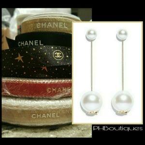 CHANEL Pearl Drop Earrings!☄